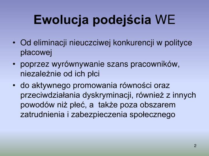 Ewolucja podejścia