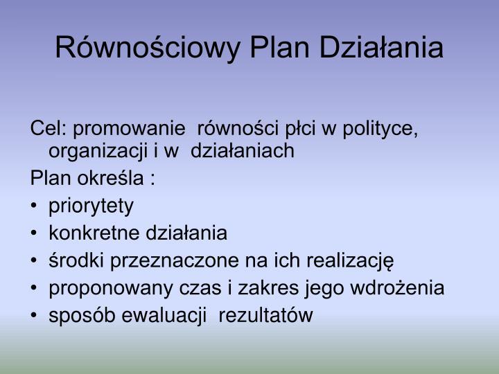 Równościowy Plan Działania