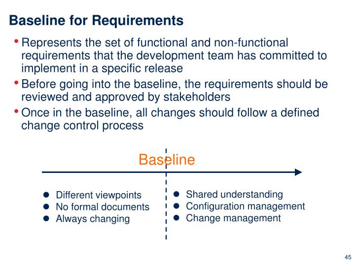 Baseline for Requirements