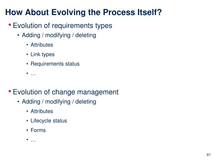 How About Evolving the Process Itself?