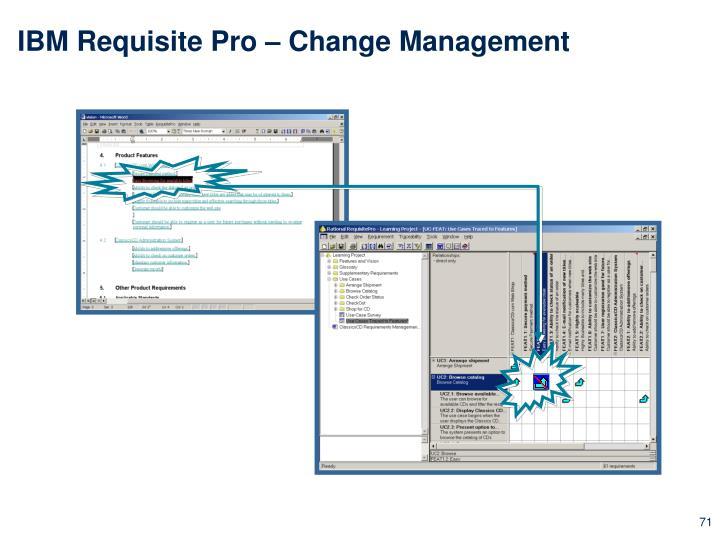 IBM Requisite Pro – Change Management