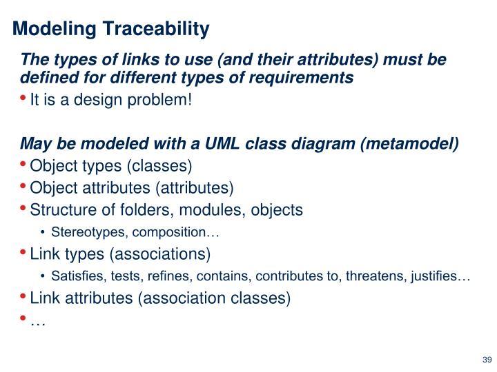 Modeling Traceability