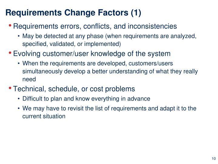 Requirements Change Factors (1)