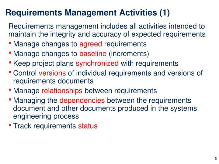 Requirements Management Activities (1)