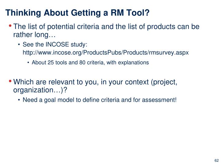 Thinking About Getting a RM Tool?