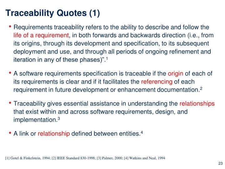 Traceability Quotes (1)