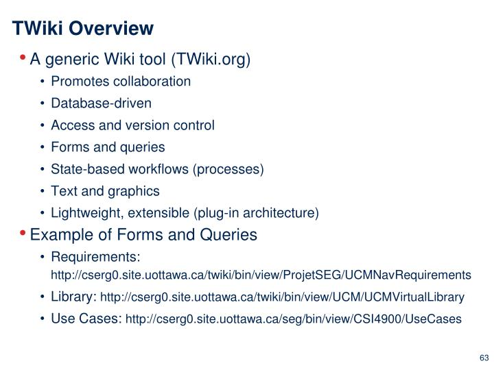 TWiki Overview