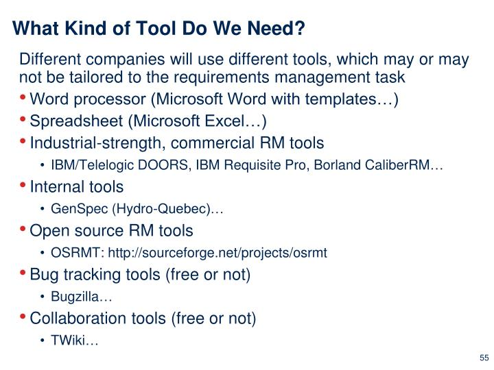 What Kind of Tool Do We Need?