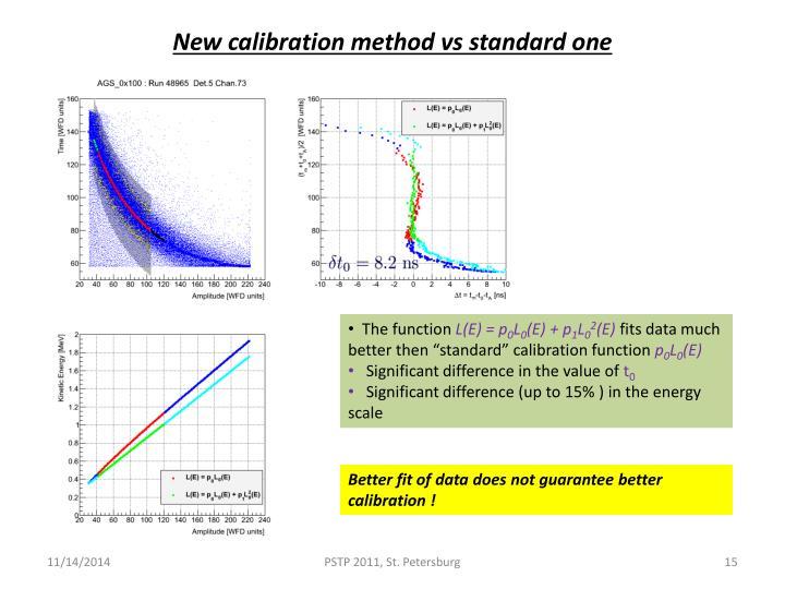 New calibration method vs standard one