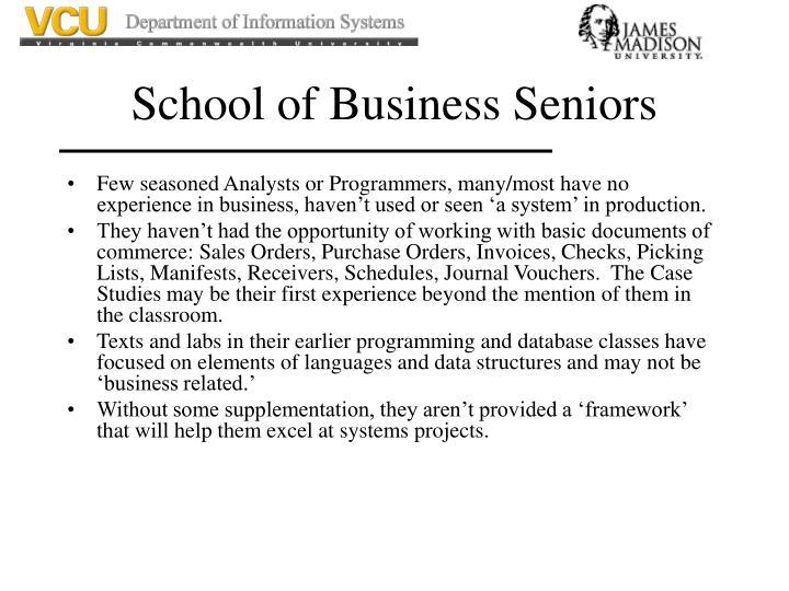 School of Business Seniors