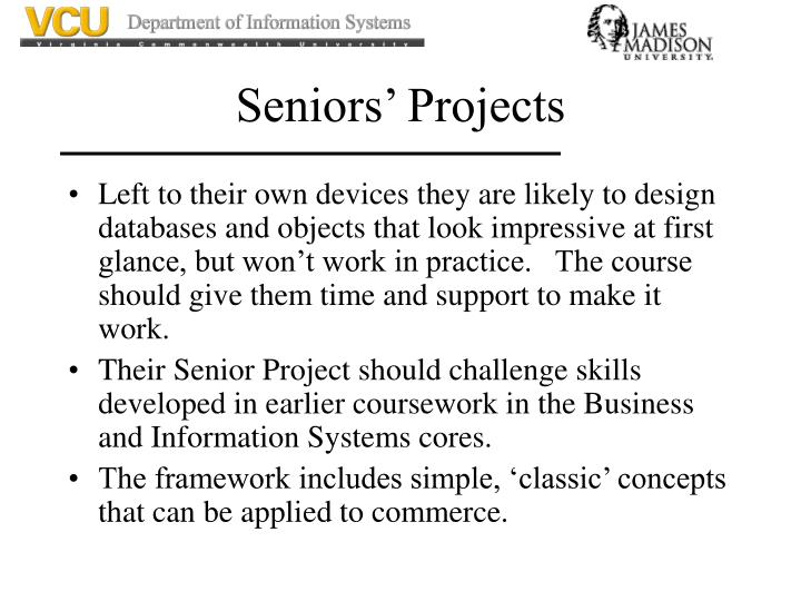 Seniors' Projects