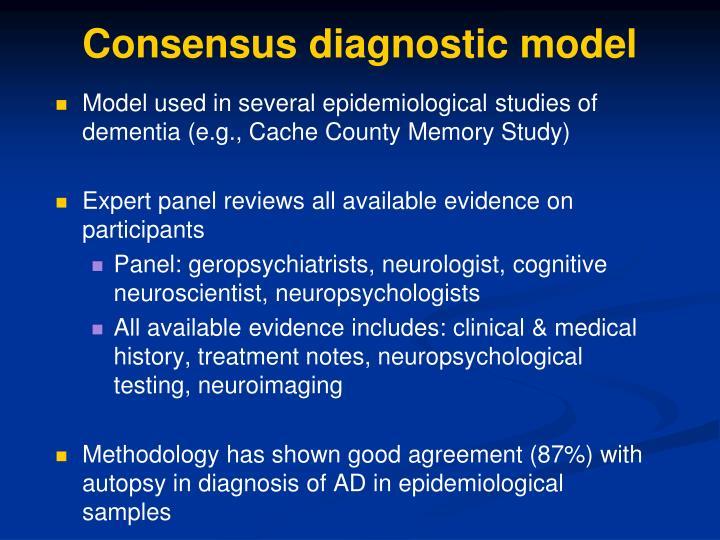 Consensus diagnostic model
