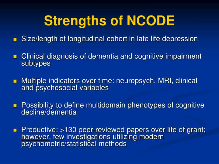 Strengths of NCODE