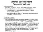 defense science board recommendations5