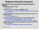 regional interstate compacts
