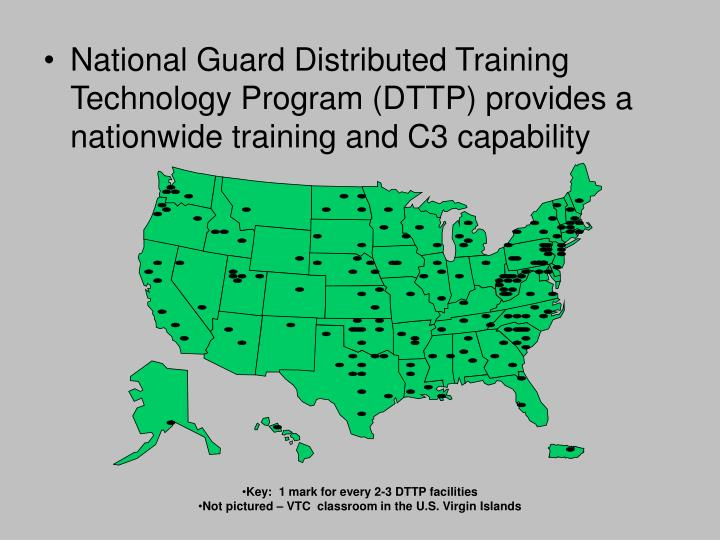 National Guard Distributed Training Technology Program (DTTP) provides a nationwide training and C3 capability