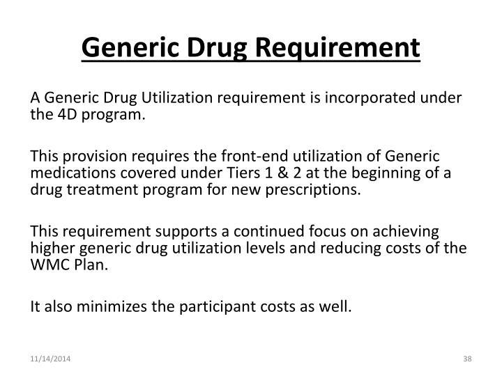 Generic Drug Requirement