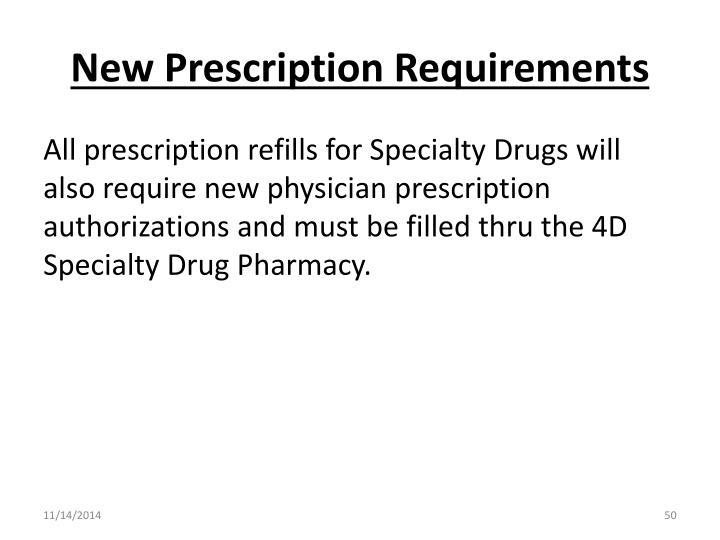 New Prescription Requirements
