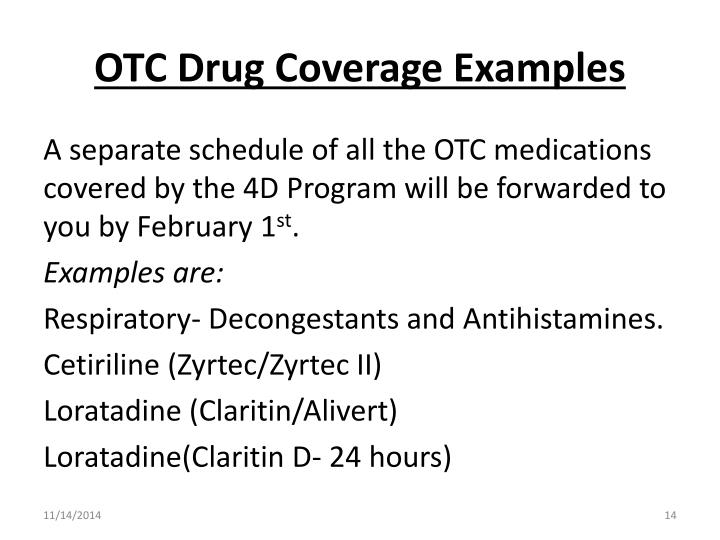 OTC Drug Coverage Examples