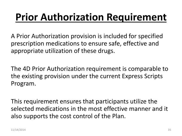 Prior Authorization Requirement