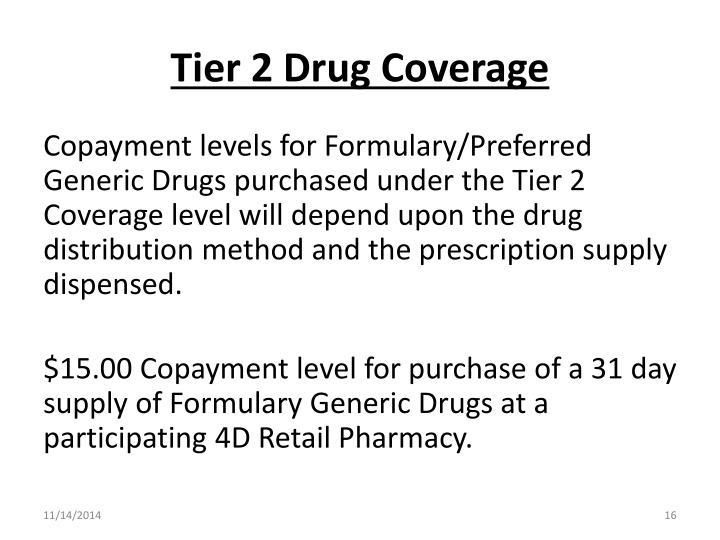 Tier 2 Drug Coverage