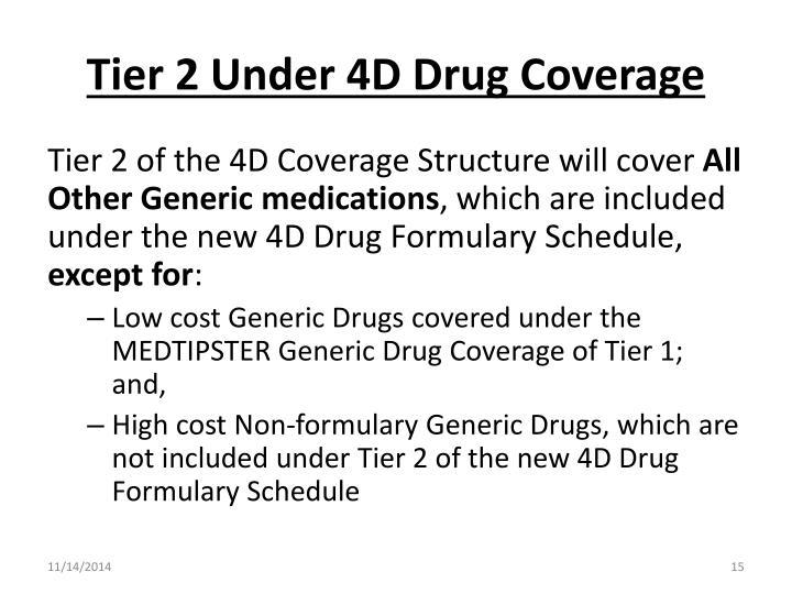 Tier 2 Under 4D Drug Coverage
