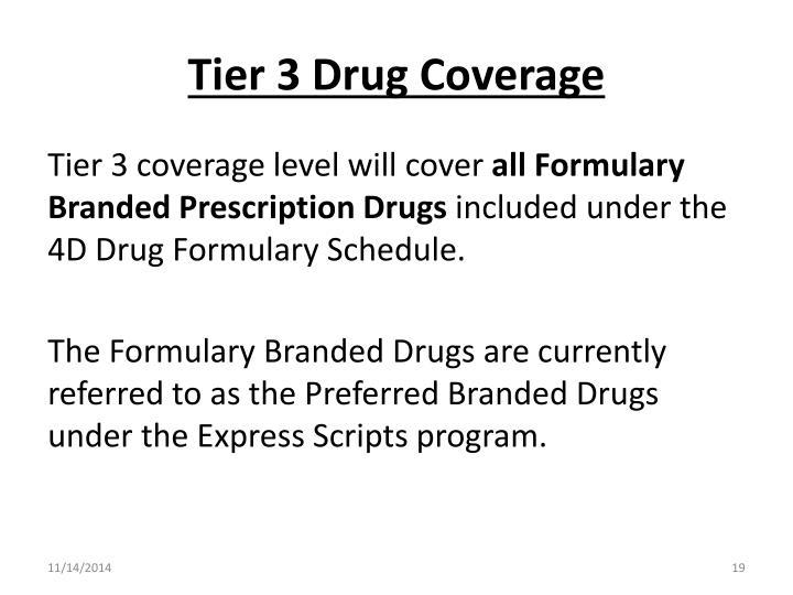 Tier 3 Drug Coverage