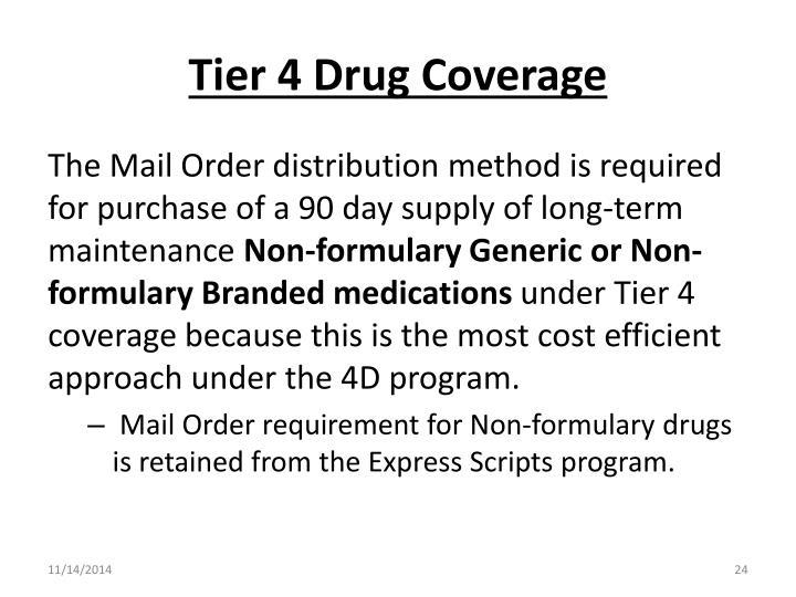 Tier 4 Drug Coverage