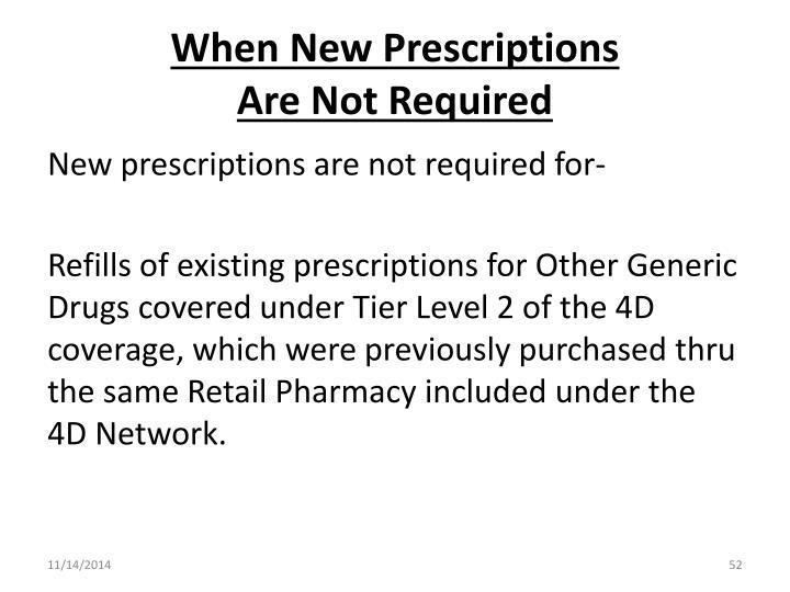 When New Prescriptions
