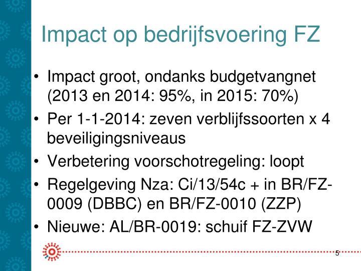 Impact op bedrijfsvoering FZ