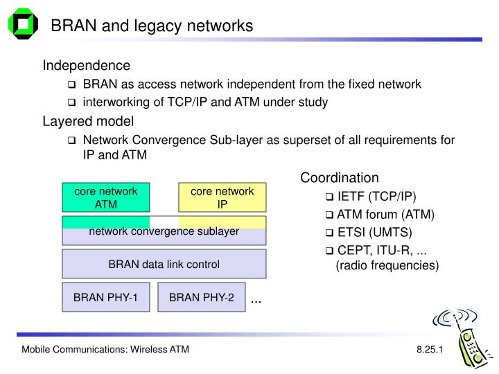 BRAN and legacy networks