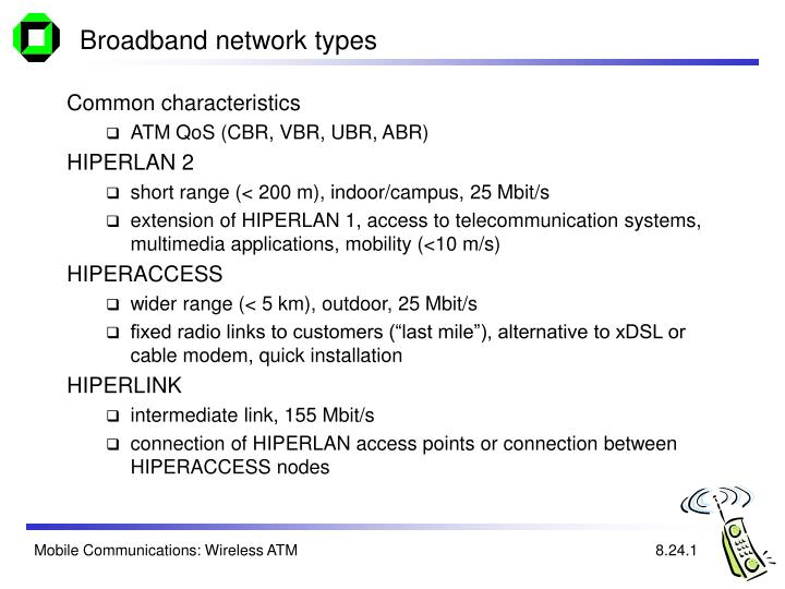 Broadband network types