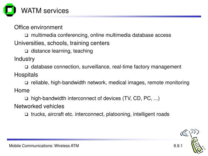 WATM services