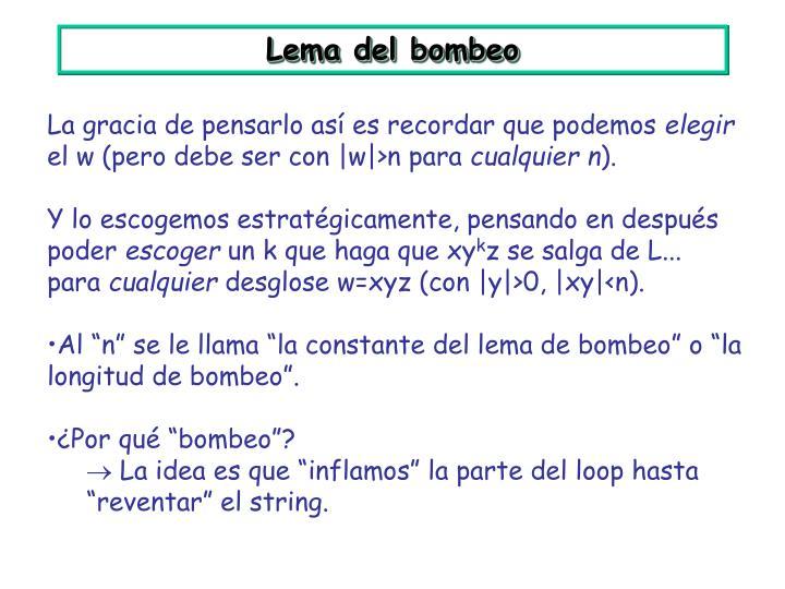 Lema del bombeo