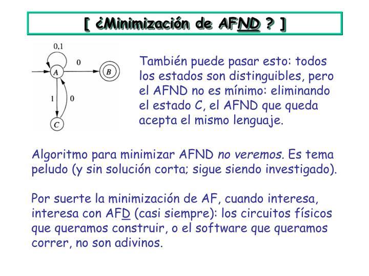 [ ¿Minimización de AF