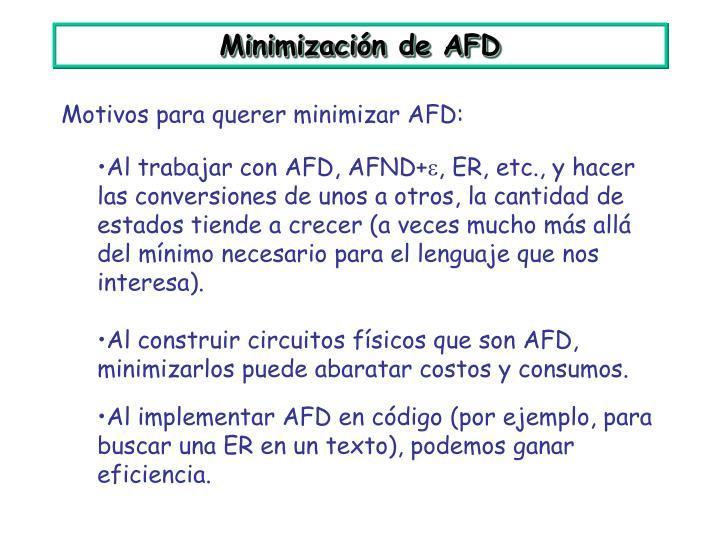 Minimización de AFD