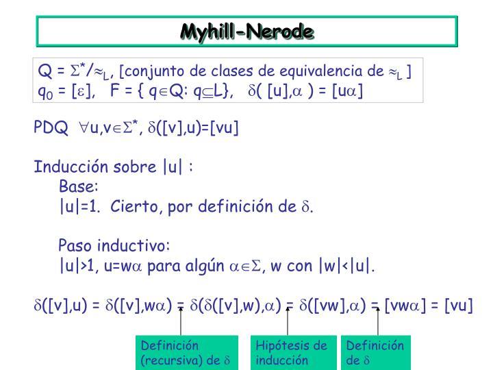 Definición (recursiva) de 
