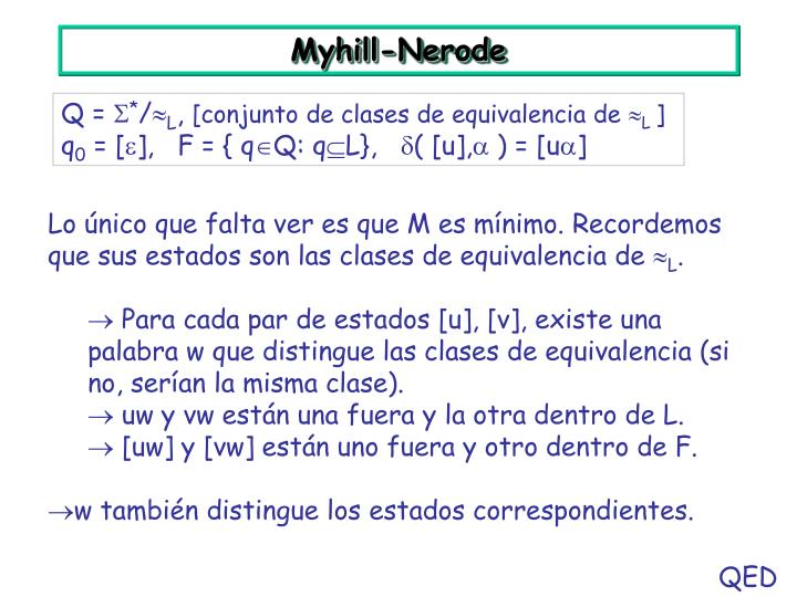 Myhill-Nerode