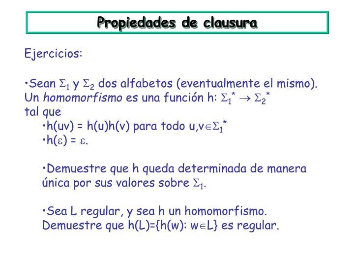 Propiedades de clausura