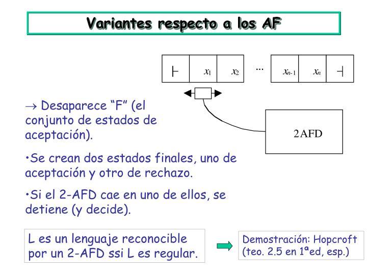 Demostración: Hopcroft (teo. 2.5 en 1ªed, esp.)