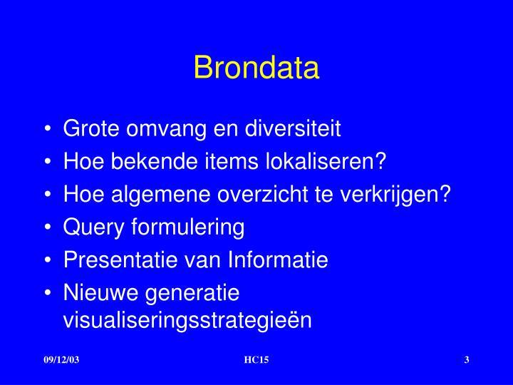 Brondata