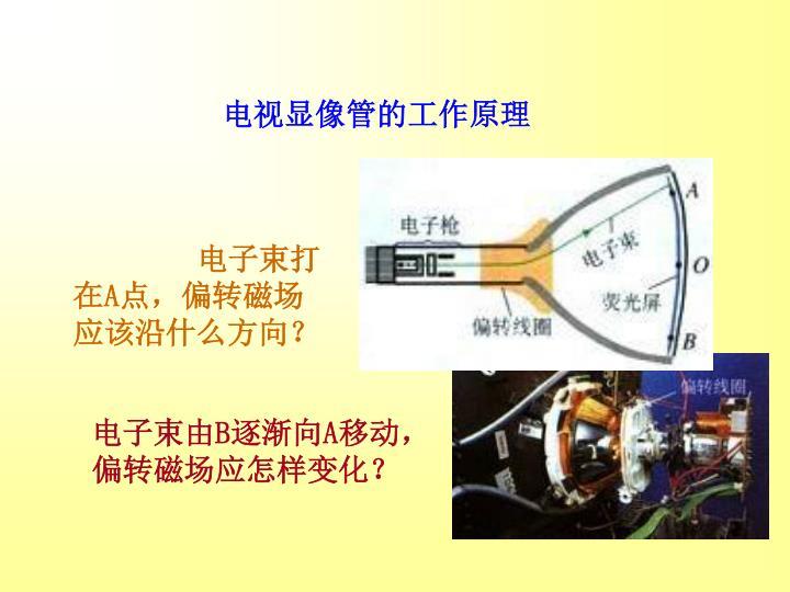 电视显像管的工作原理