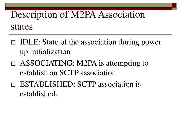 Description of M2PA Association states