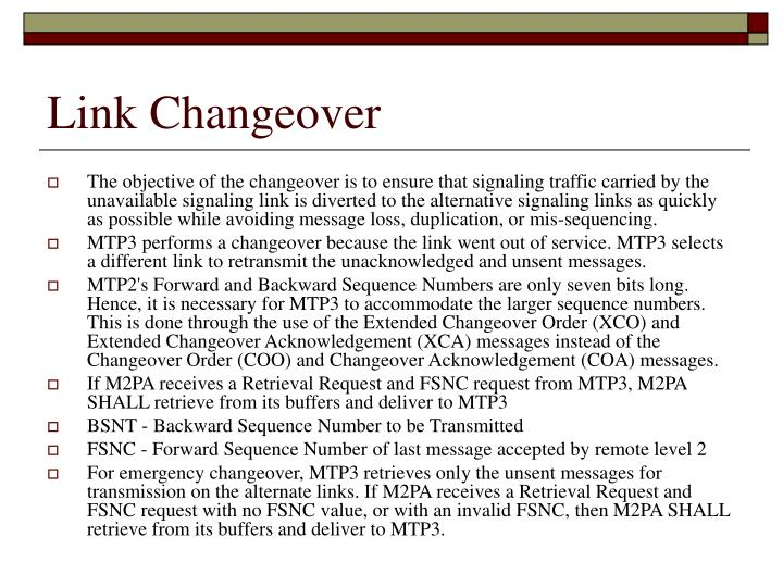 Link Changeover