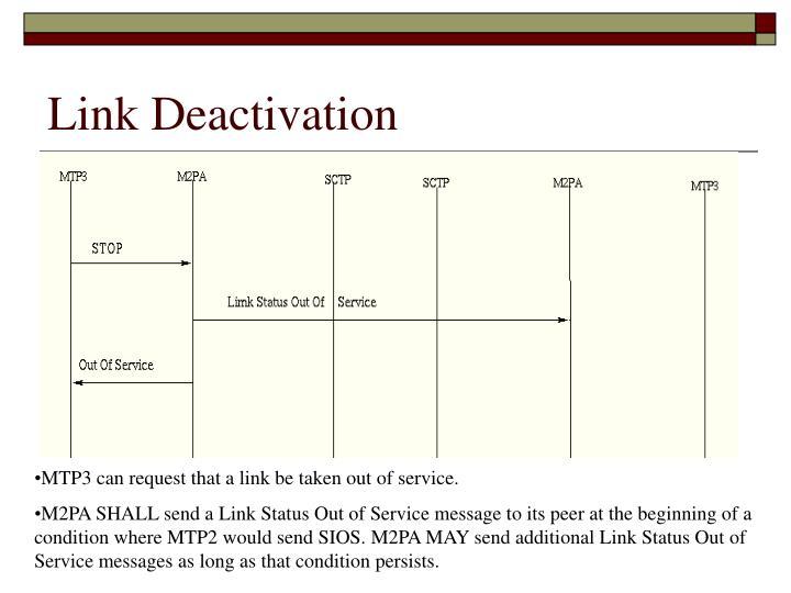 Link Deactivation