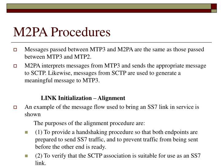 M2PA Procedures