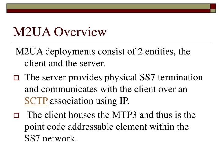 M2UA Overview