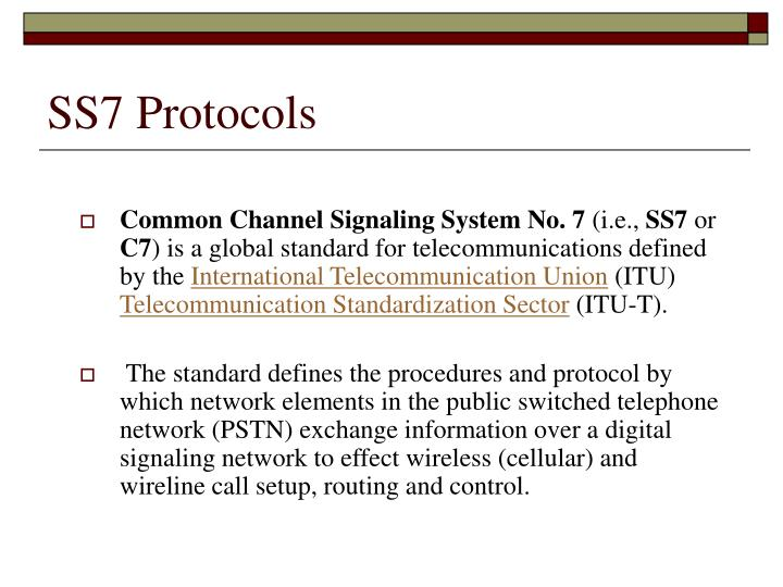 SS7 Protocols