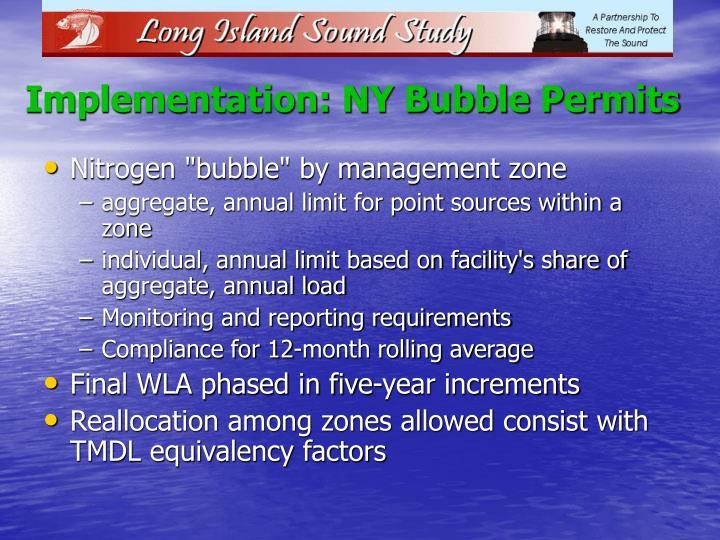 Implementation: NY Bubble Permits