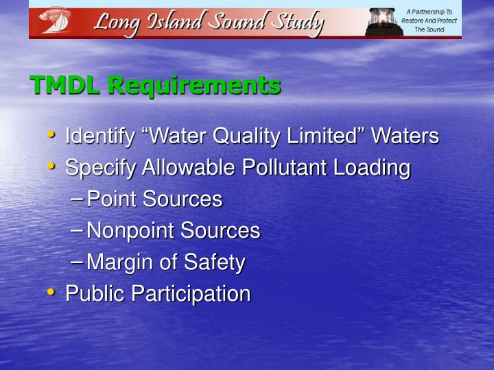 TMDL Requirements